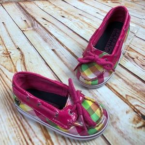 Sperry Top Sider BISCAYNE Plaid Crib Baby Shoes